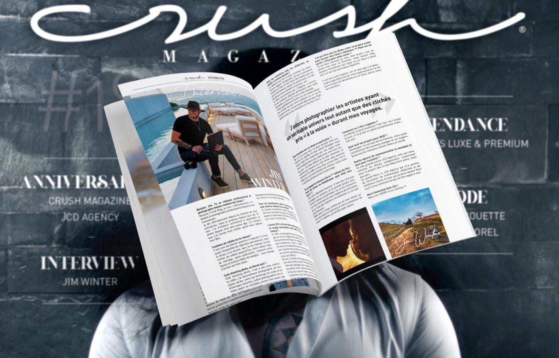 Parution dans le Crush Magazine 2020 / Jim Winter Photographe Vidéaste Paris